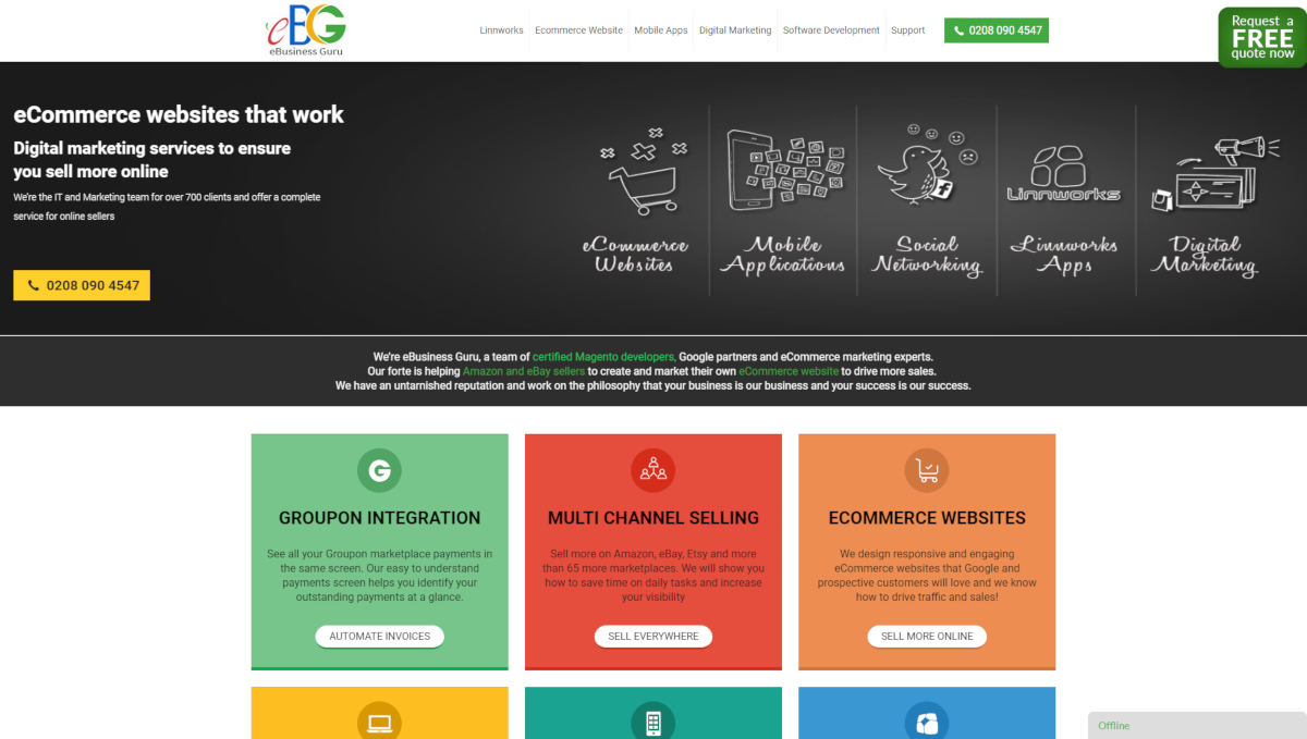 EbusinessGuru landing page screenshot