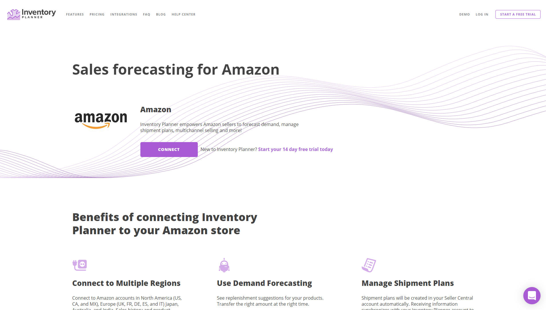 Inventory Planner landing page screenshot
