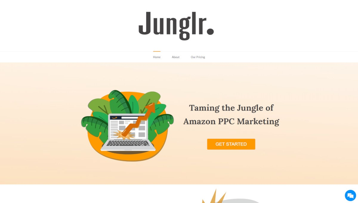 Junglr landing page screenshot