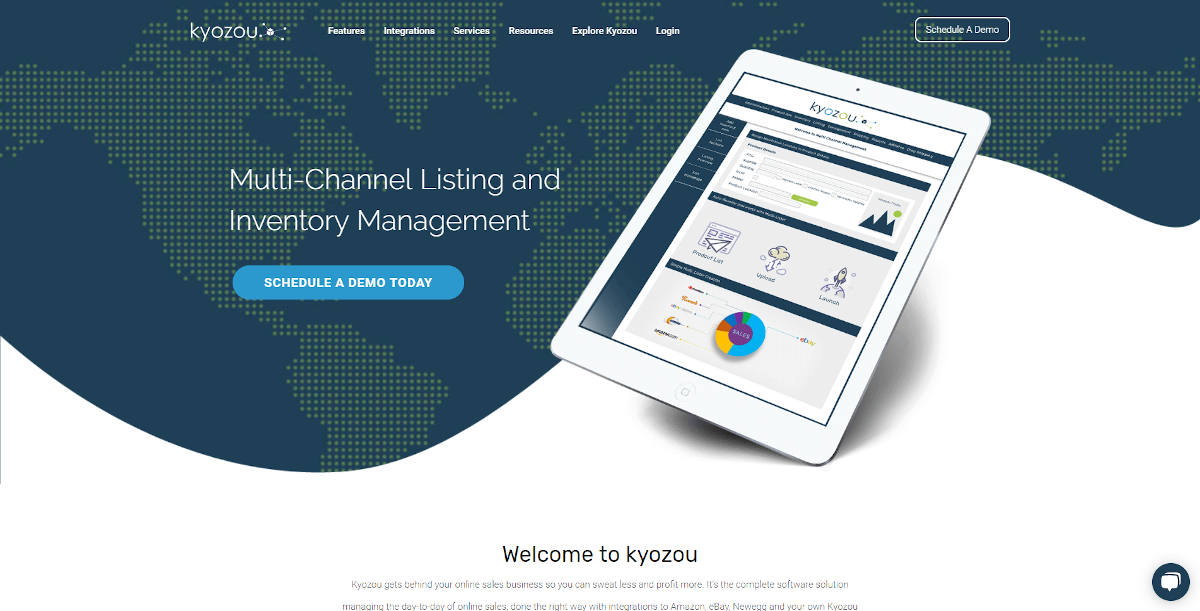 Kyozou landing page screenshot