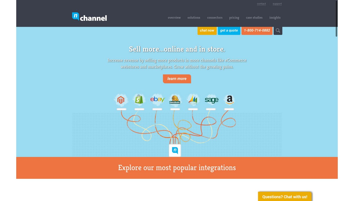 nChannel landing page screenshot