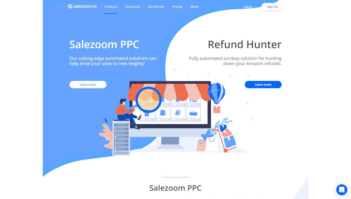 SaleZoom landing page screenshot