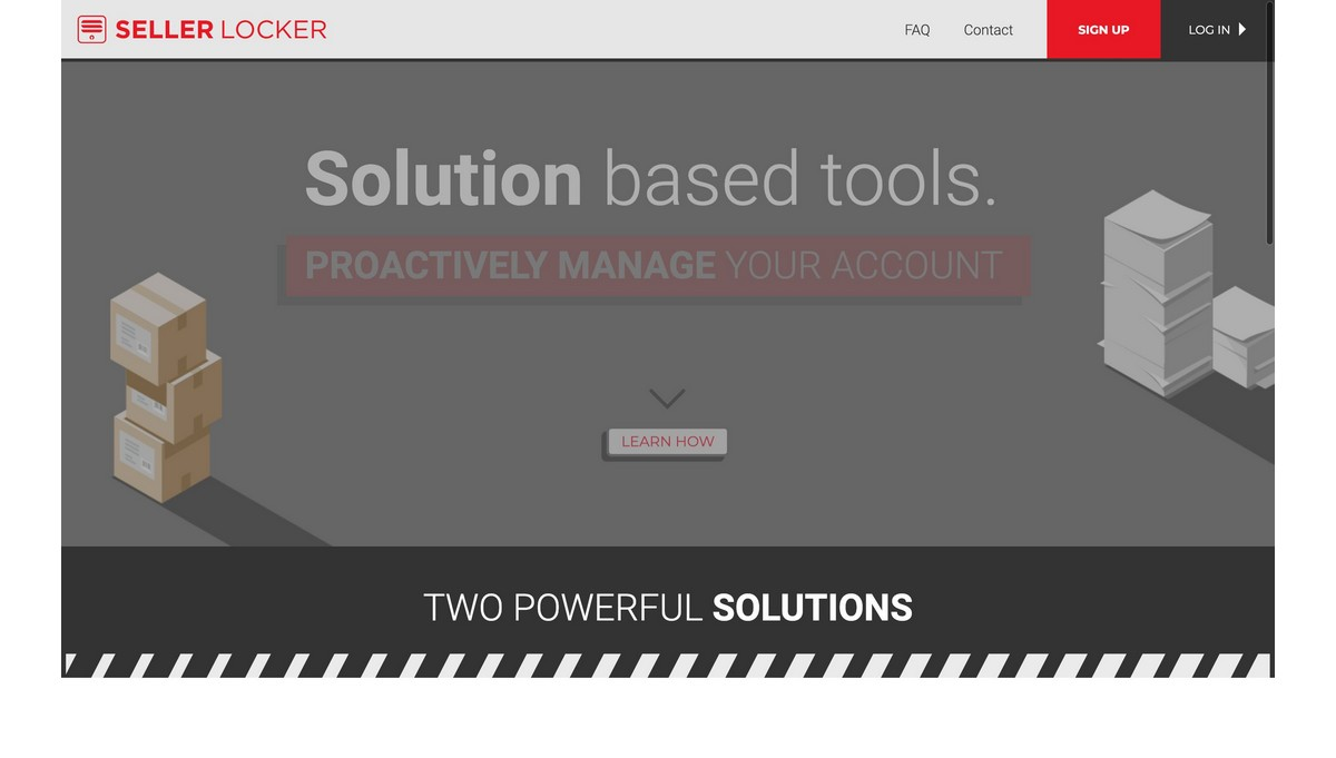 SellerLocker landing page screenshot