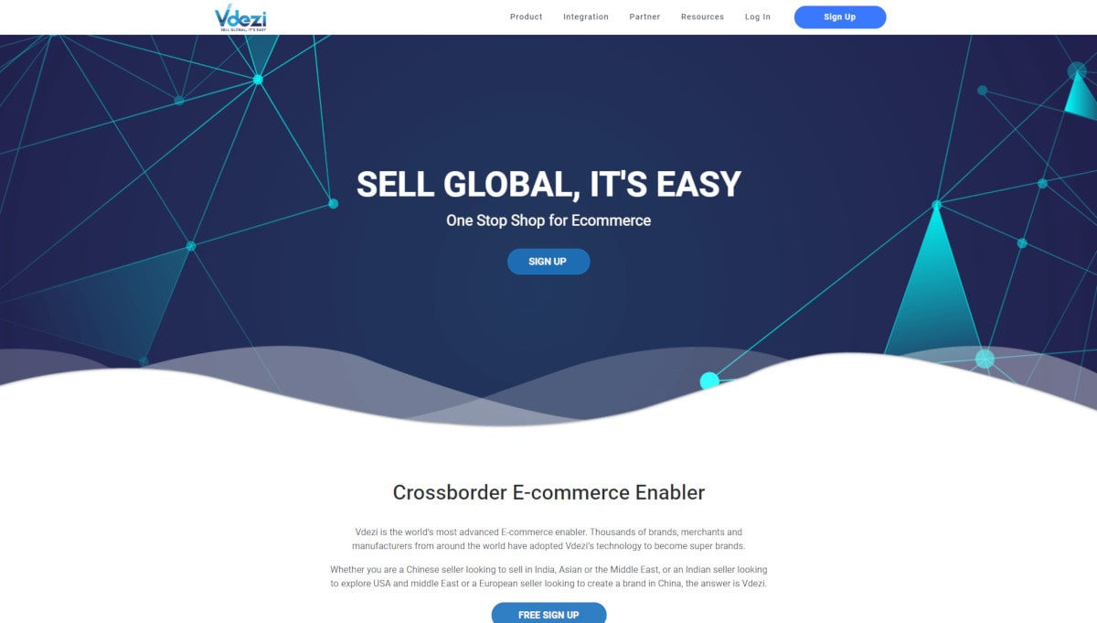 Vdezi landing page screenshot