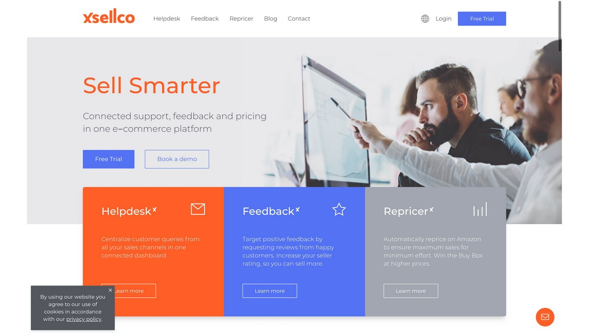 Xsellco Feedback landing page screenshot